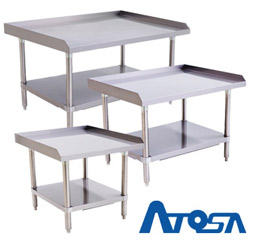 Atosa Catering Equipment group picture of stainless steel ATSE series equipment stands