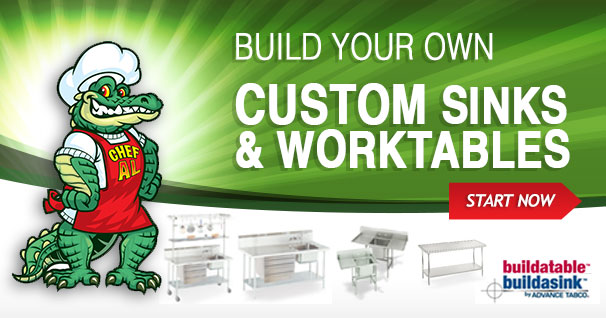 Custom Designed Work Tables and Sinks