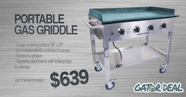 portable commercial griddle