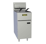 Anets 100-Pound All-Purpose Commercial Gas Fryer - SilverLine Series, (SLG100)
