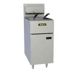 Anets 50-Pound All-Purpose Commercial Gas Fryer - SilverLine Series, (SLG40)