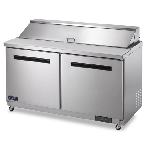 AMT60R 2T arctic air amt60r 2 door mega top food prep table  at gsmportal.co