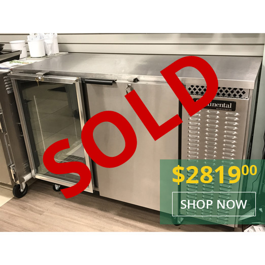 Continental Demo Unit BBC59-SS 59 Inch Wide Back Bar Cooler - Special Promotional Price