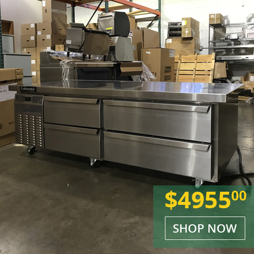 Continental Demo Unit DL72G 72 Inch Wide Refrigerated Chef Base Equipment Stand - Special Promotional Price