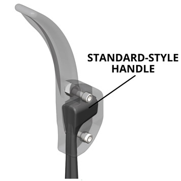 Diagram for model 170-10006-0101 AMSafe Antimicrobial Door Arm Handle for Standard-Style doors