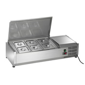 arctic air model acp40 commercial refrigerated 6-pan food pre rail