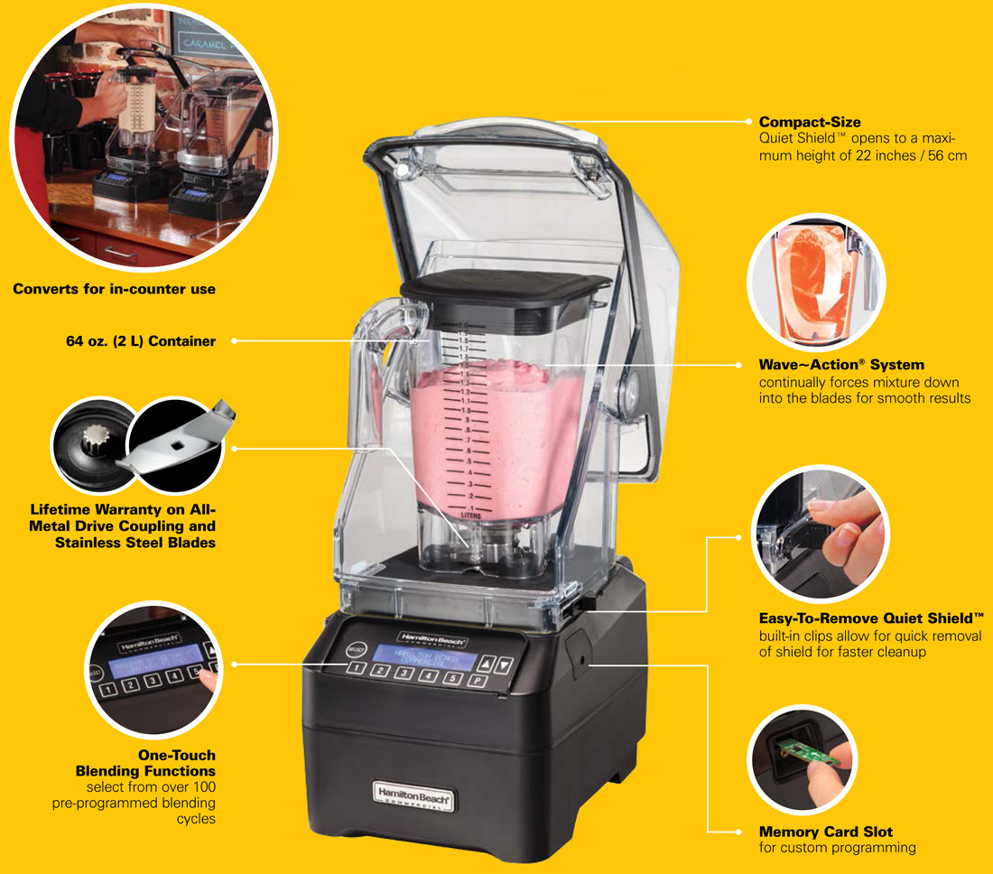 Hamilton Beach Eclipse HBH550 Commercial Blender Specification Image