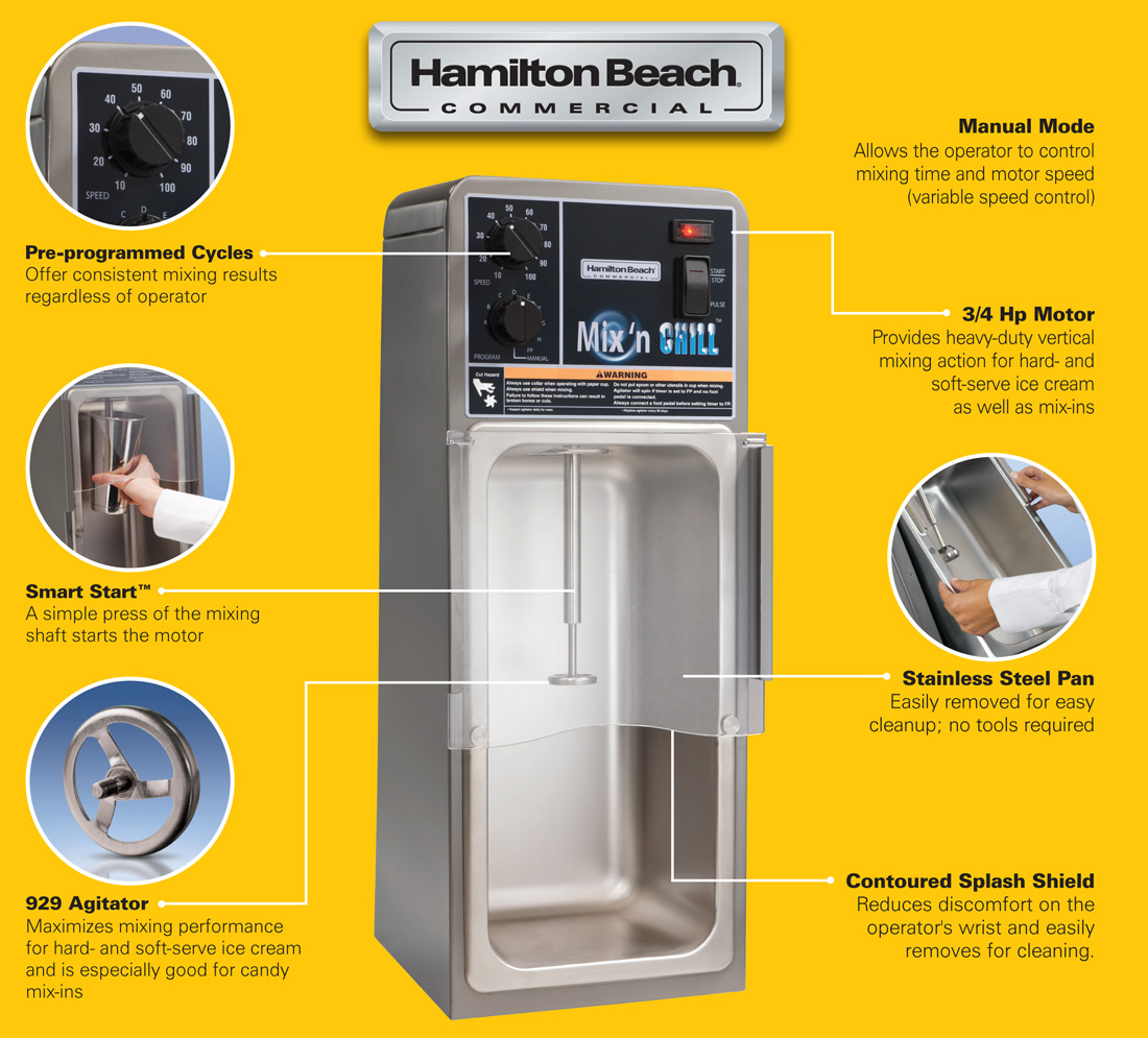 Hamilton Beach HMD900 Mix 'n Chill Commercial Drink Mixer Specifications Image