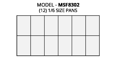 Atosa MSF8302 refrigerated pre table food pan layout diagram