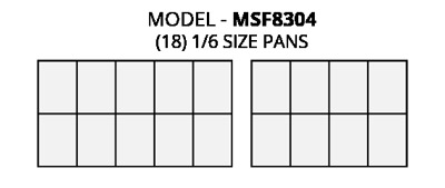 Atosa MSF8304 Refrigerated Food Pre Table Food Pan Layout Diagram