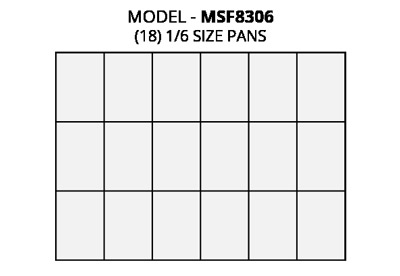 Atosa MSF8306 refrigerated pre table food pan layout diagram