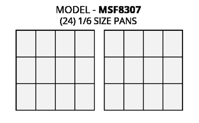 Atosa MSF8307 refrigerated pre table food pan layout diagram