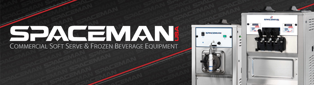 Spaceman Commercial Soft Serve and Frozen Beverage Machine Information Page Banner