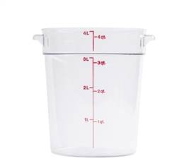 Winco Round Food Storage Container 4 Qt Clear
