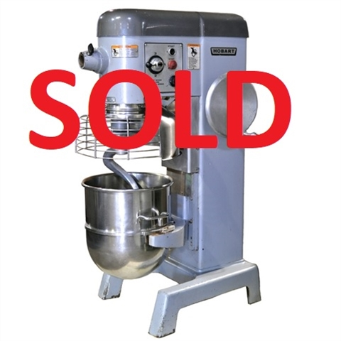 Used Hobart D340 Mixer With 3 Attachments And Meat
