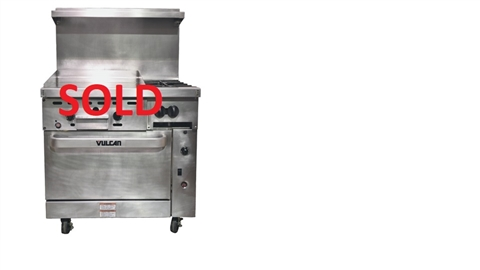 Used Vulcan 36 Inch 2 Burner With 24 Quot Griddle And
