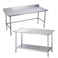 commercial 430 type stainless steel work tables